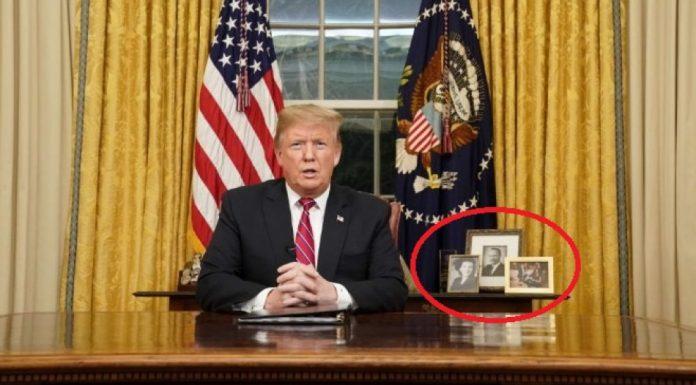 Тръмп постави мистериозни снимки в овалния кабинет