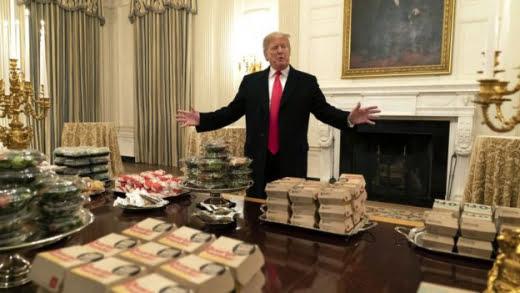 Белият дом остана без храна, Тръмп поръча McDonald's