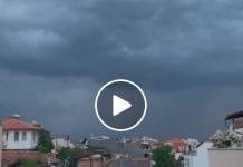 Буря на Пловдив със силен дъжд - Видео