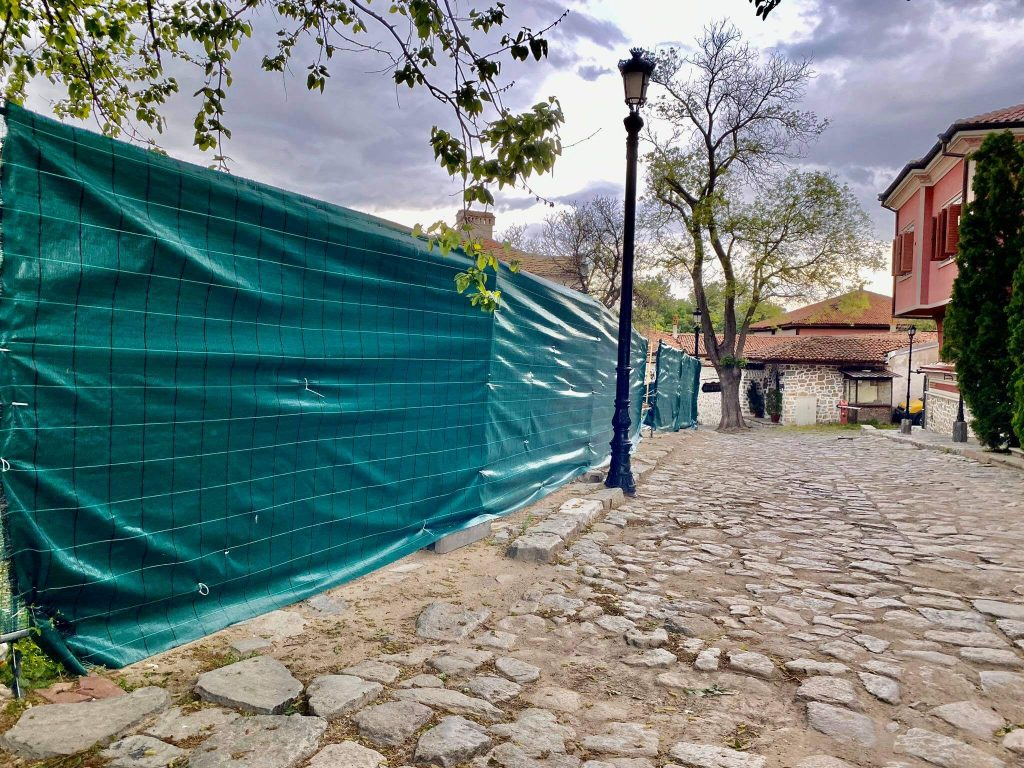 Бетон се лее отново в Стария град на Пловдив