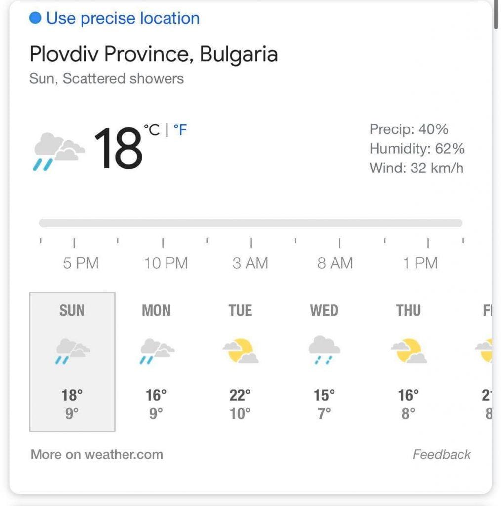 Дъжд и лека градушка се изливат силно над Пловдив