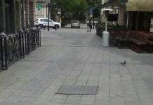 Пропадна част от главната улица на Пловдив