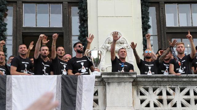Локомотив Пловдив вдигнаха купата в Общината СНИМКИ