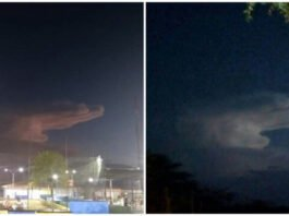 Ръката на Бога се показа от небето